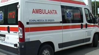 """Un băimărean și-a vărsat nervii pe o ambulanță, pe care a """"rănit-o"""" pe ici, pe colo"""
