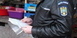 Amenzi date și bunuri confiscate în piață