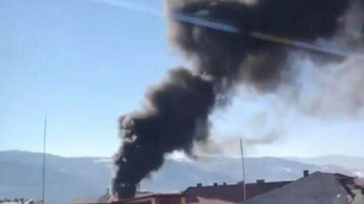Incendiu lichidat, azi, la o casă din Cavnic