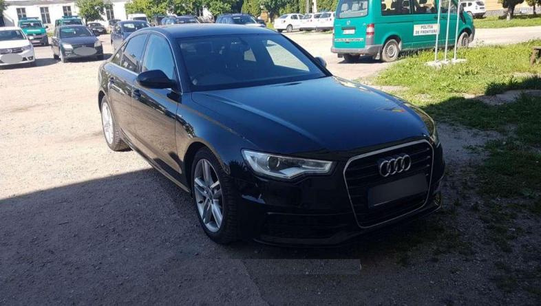 Audi A6 furat din Anglia și găsit în Sighet