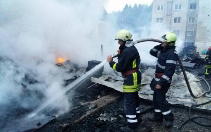 Incendiu cu două victime în Borșa