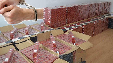 Arestări la contrabanda cu țigări. Și taxe către polițiștii corupți: 50 euro/bax, 500 euro/pont