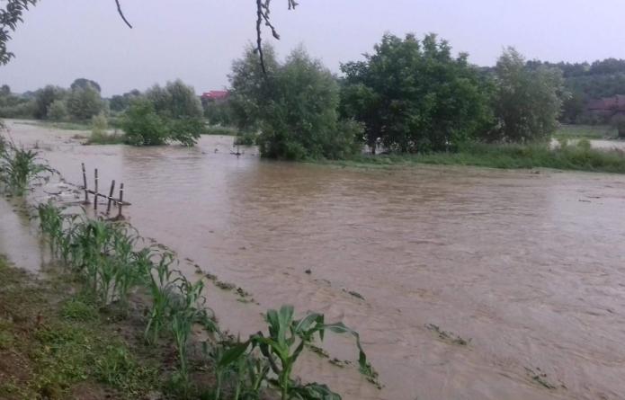 Viiturile și-au făcut de cap în Maramureș, a fost nevoie de intervenții pentru degajarea drumurilor (VIDEO)