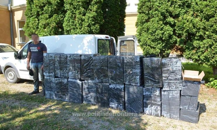 Țigări de peste 200.000 de lei confiscate de la un contrabandist