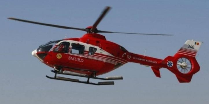 Fetiță de un an și 11 luni, transportată la Cluj cu elicopterul SMURD