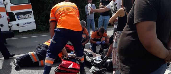 """Motociclist străin călcat de un SUV la """"Două Veverițe"""" (GALERIE FOTO)"""