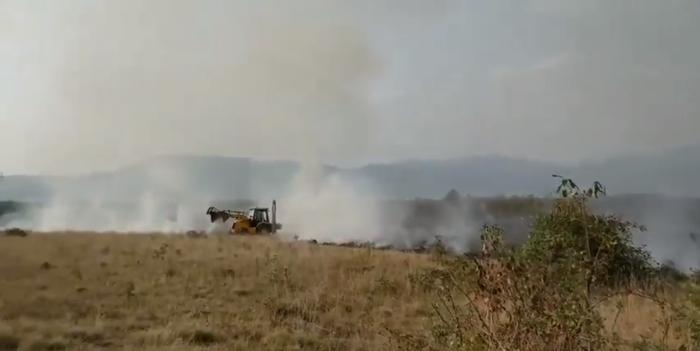 75 de hectare de vegetație uscată distruse de 11 incendii