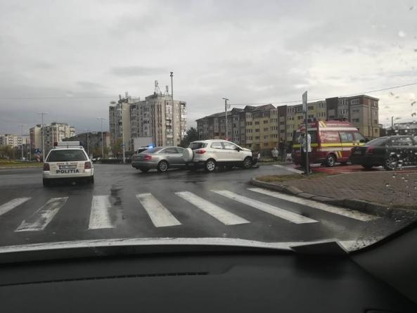 Accident lângă catedrală