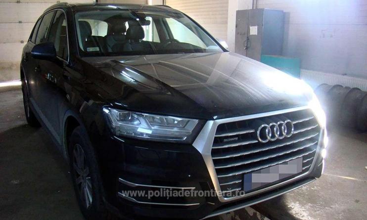 Audi Q7 căutat de autoritățile poloneze, găsit de lucrători ai ITPF Sighetu Marmației