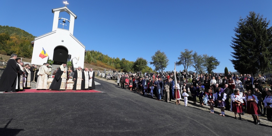 A fost binecuvântată capela de cimitir din cartierul Firiza (GALERIE FOTO)