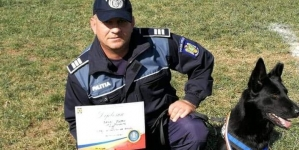 Un polițist și un câine polițist din IPJ Maramureș, medaliați cu bronz