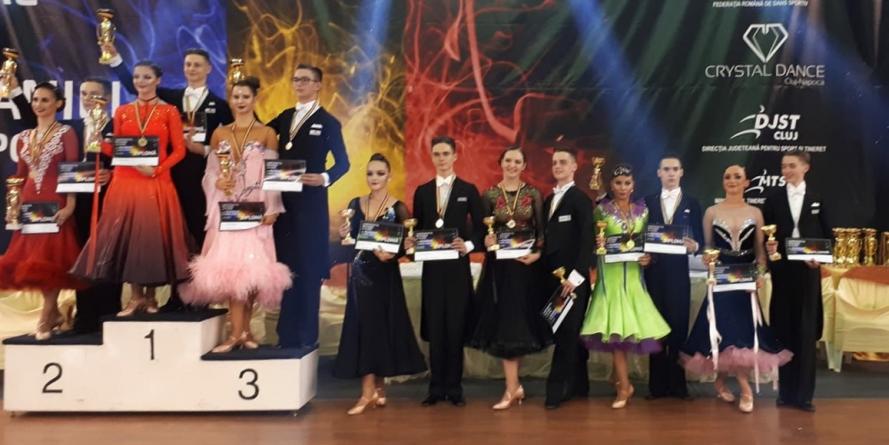 GalacticDance a cucerit un titlu de campion și unul de vicecampion național la dans sportiv  (GALERIE FOTO)