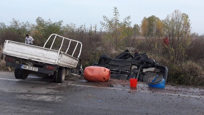 Accident grav la Lăpușel (GALERIE FOTO)