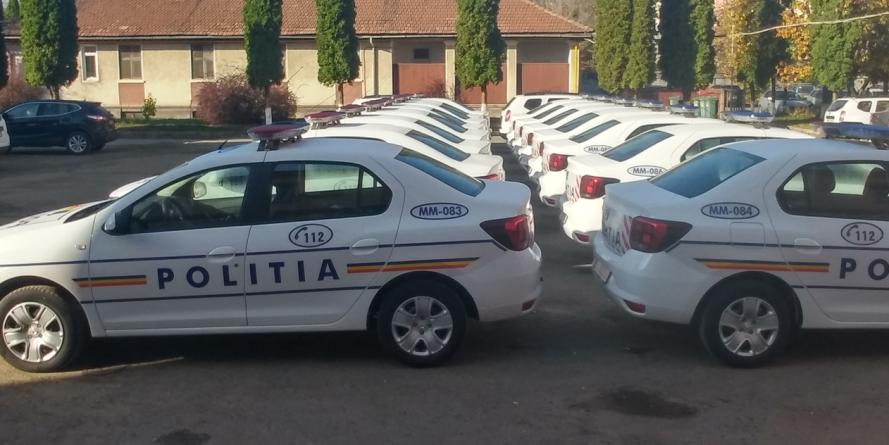 Poliția maramureșeană a fost dotată cu 15  autospeciale noi