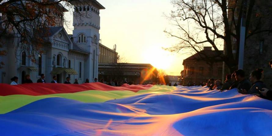 Un tricolor uriaș a fost plimbat prin Baia Mare