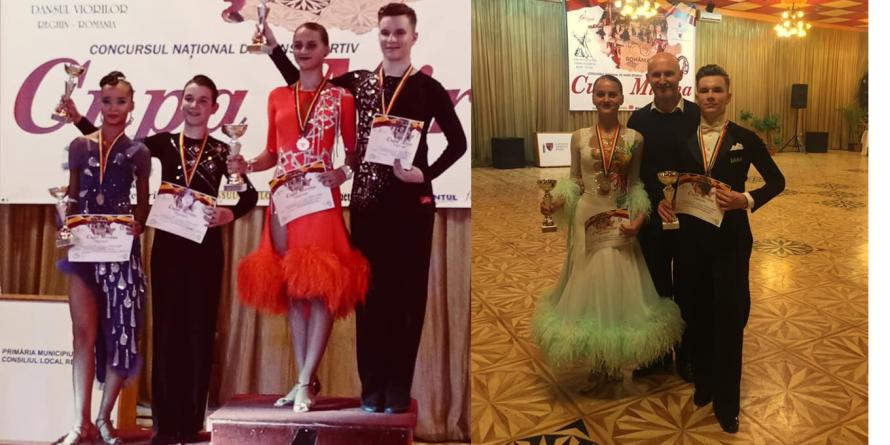 """9 medalii pentru dansatorii maramureșeni la concursul național """"Cupa Mirona"""""""