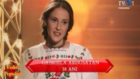 """Maramureșeanca  Gabriela Ardusătan  – în semifinale la """"O vedetă populară"""""""