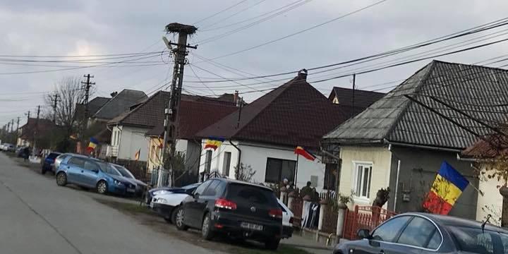 Una caldă, alta rece la… Recea: tricolor pentru fiecare gospodărie și teren de sport vandalizat în Lăpușel (VIDEO)
