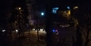 Șapte mașini avariate în parcare (GALERIE FOTO)