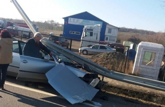 Accident la ieșirea din Șomcuta