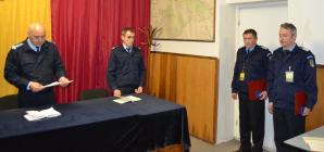 Doi jandarmi maramureşeni decoraţi  pentru activitatea din Kososvo