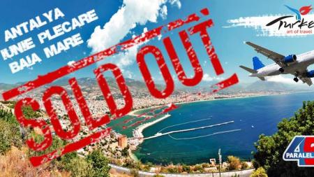 Primul avion plin pentru Antalya, cu decolare din Baia Mare