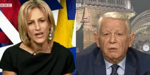 Teodor Meleșcanu, pus la colț de o jurnalistă BBC, din cauza lui Liviu Dragnea (VIDEO)