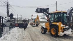 Mobilizare generală pentru eliberarea de zăpadă a străzilor din Borșa