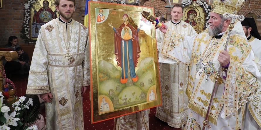 A fost sfinţită icoana Maicii Domnului, ocrotitoarea satului românesc