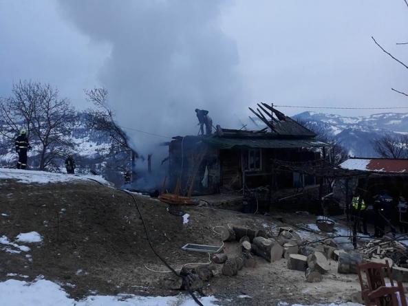 Incendiu cu victimă în Crasna Vișeului