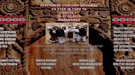 """Festivalul-concurs """"Fii star în țara ta"""" – organizat în Maramureș. Înscrierile au început"""