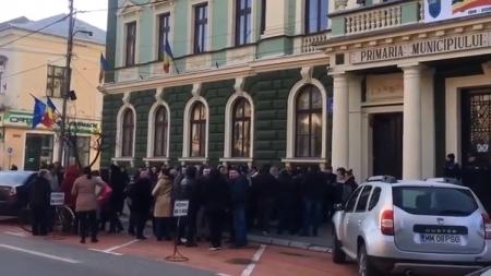 """Proteste """"sănătoase"""" la Sighet"""