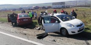 Accident cu cinci victime, petrecut pe drum drept
