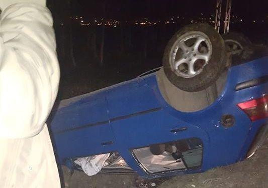 Accident la ieșirea din Recea spre Baia Mare