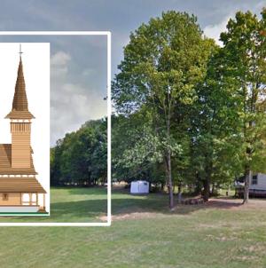 Meșteri din Bârsana construiesc în  New Jersey o biserică de lemn în stil maramureșean (GALERIE FOTO)
