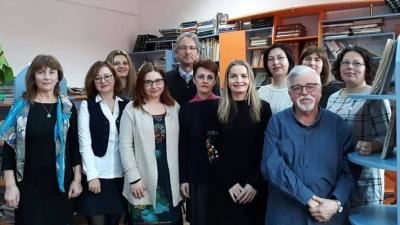 """Colegiul """"Eminescu"""", vizitat de reprezentanți ai Ambasadei Franței și Institutului Francez"""