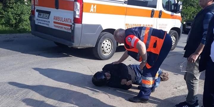 Motociclist accidentat la Târgul auto