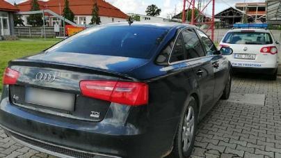 Mașină furată din Marea Britanie depistată de polițiști ai ITPF Sighetu Marmației
