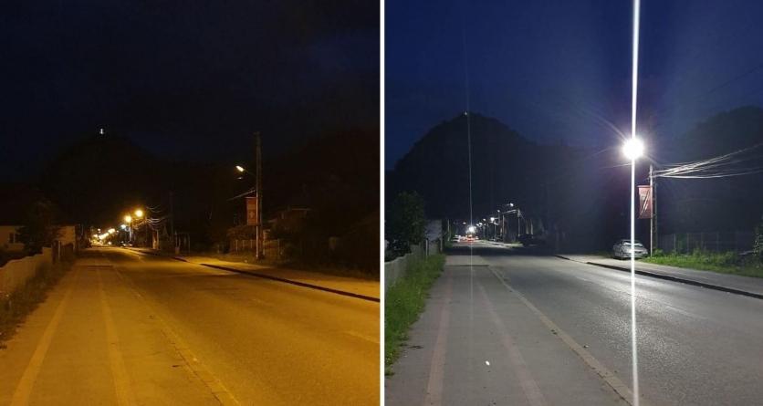 În Borșa – sistem de iluminat public care reduce cheltuielile