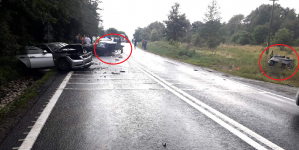 Grozăvii rutiere: BMW rupt în două, după o coliziune (GALERIE FOTO)