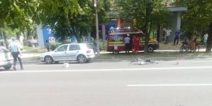Două accidente, doi bicicliști răniți
