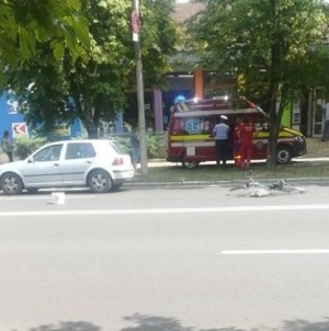 Două accidente, doi bicicliști răniți