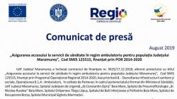 Asigurarea accesului la servicii de sănătate în regim ambulatoriu pentru maramureșeni