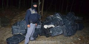 Caz cu țigări de contrabandă găsite în Maramureș și contrabandist prins în Ucraina