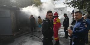 Două apartamente  și un garaj au luat foc în ultimele 24 de ore (GALERIE FOTO)