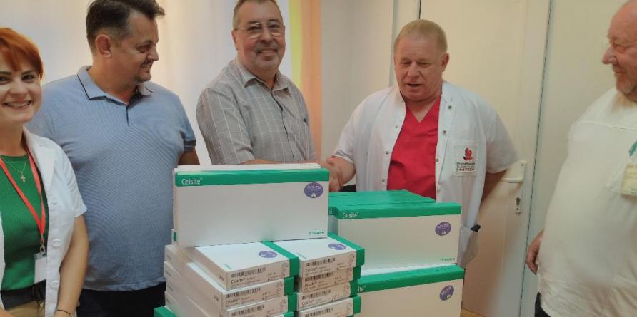 DONAȚIE. 30 de camere implantabile pentru bolnavii de cancer ai Spitalului  Județean