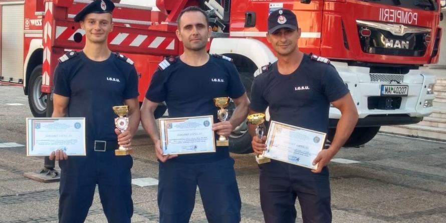Pompieri maramureșeni, pe podium la un concursul internațional de profil