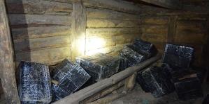 """Mii de pachete cu ţigări de contrabandă au fost """"anexate"""" dintr-o anexă din Valea Chioarului"""