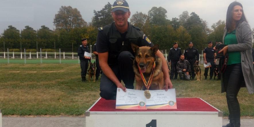 Toader Koman – câinele Athos,  două titluri naționale la Campionatul de dresaj al câinilor de serviciu (VIDEO)