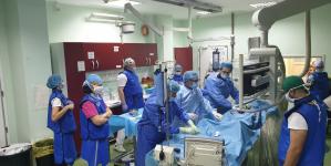 A treia procedură EVAR realizată cu succes la Spitalul Județean